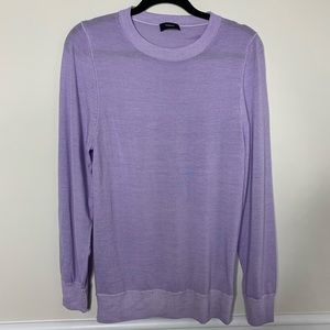 Theory 100% merino wool purple crew neck sweater